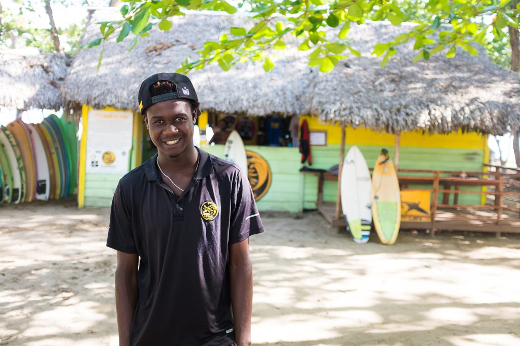 surf instructor encuentro beach cabarete dominican republic