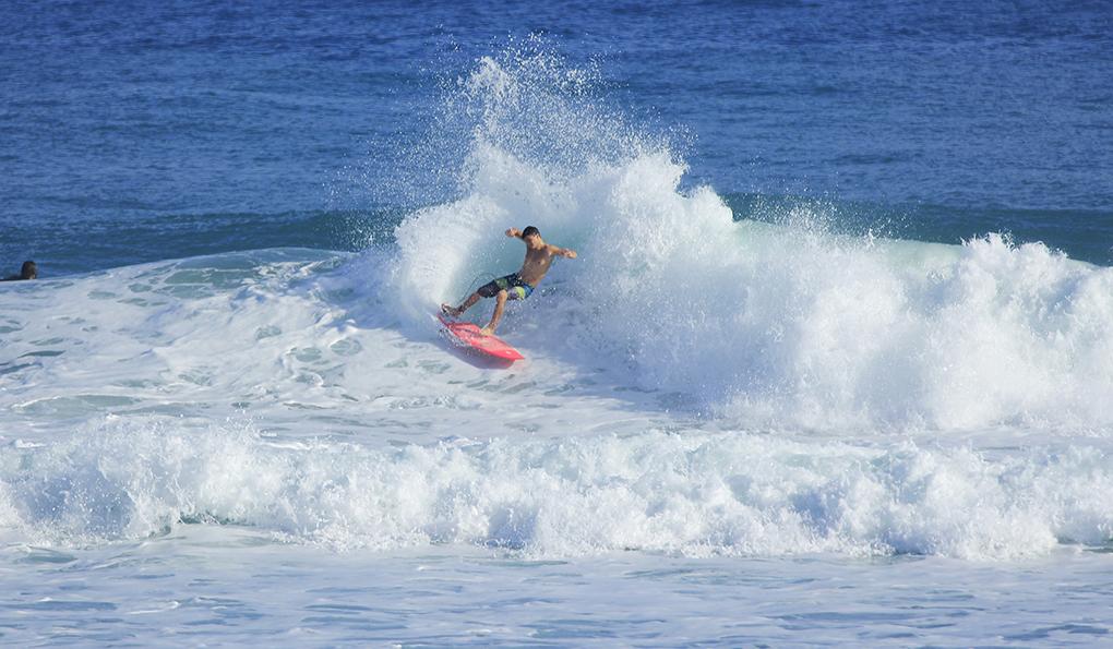 max self surfing encuentro beach dominican republic