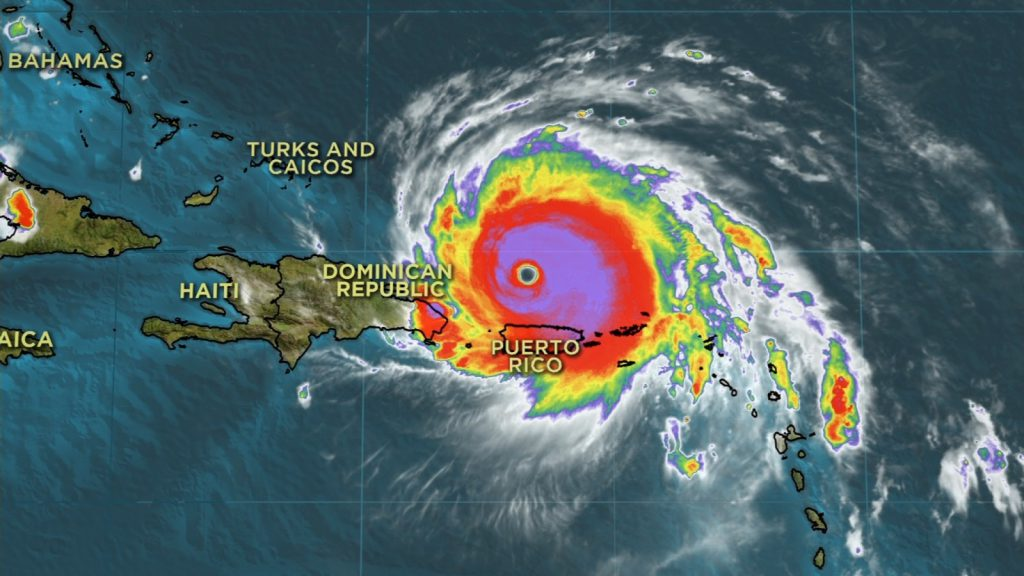 hurrican irma dominican republic satellite image