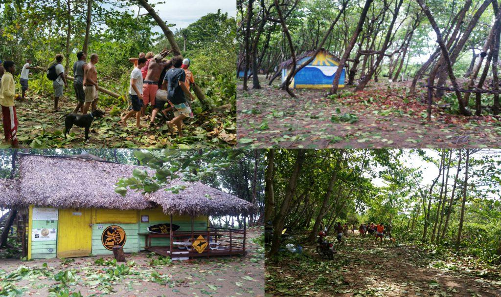 Hurricane Irma beach clean up encuentro beach